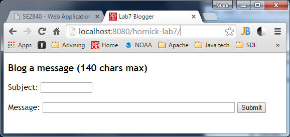 SE2840 Lab 7: Servlet Context and Sessions